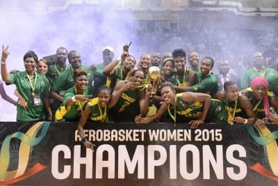 Les Lionnes du Sénégal remportent l'Afrobasket women 2015 en battant le Cameroun