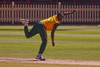 South African cricket player Kagiso Rabada.