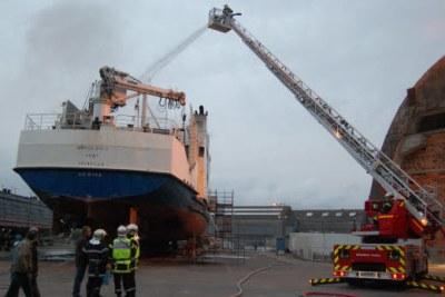 Incendie d'un navire au Port autonome de Dakar