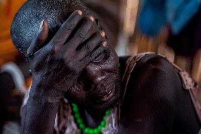 Des femmes et des enfants souffrant des violences dans l'Etat d'Unité, au Soudan du Sud