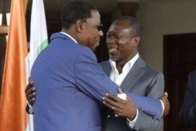 Les présidents Patrice Talon, Faure Gnanssingbé et l'ex-président du Bénin Yayi Boni et Alassane Ouattara
