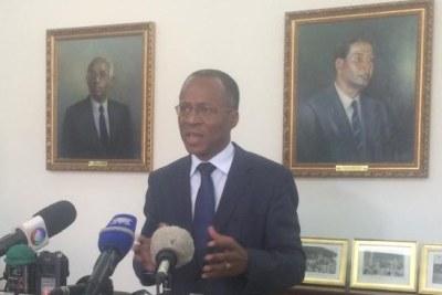 Le nouveau Premier ministre cap-verdien lors de l'annonce de son gouvernement, le 8 avril 2016.