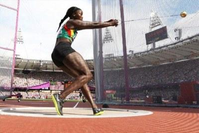 Amy Sène ,championne d'Afrique du lancer du marteau