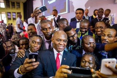 Promotional still from Tony Elumelu Entrepreneurs Transforming Africa. The documentary tells the story of one man's vision to harness and unleash the ingenuity and creativity Africa's entrepreneurs to spur innovation and economic development on the continent.