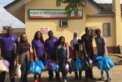A team of GE Volunteers distributed donated goods and spent time with the United for Kids Foundation Nigeria at the pediatric unit of a teaching hospital in Lagos, Nigeria recently.