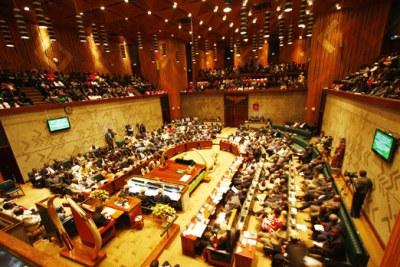 Zambia's parliament (file photo).