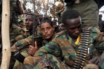 Ethiopian soldiers serving under AMISOM.