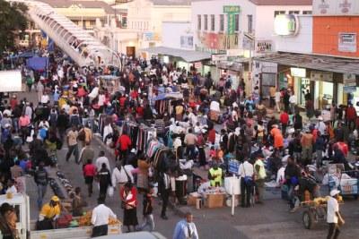 Vendors in Harare.