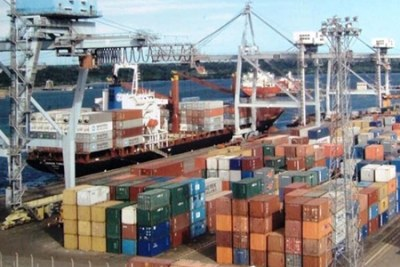 Dar es Salaam port.