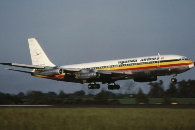 One of Uganda Airlines' planes before the national carrier was liquidated in 2001 (file photo).