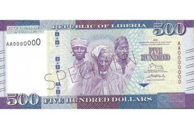 Specimen of the new LD 500 banknote.