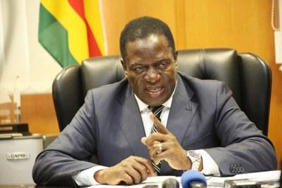 Vice President Emmerson Mnangagwa (file photo).