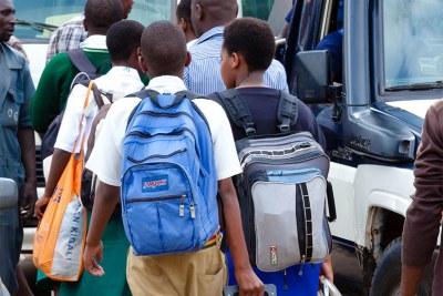 (Photo d'archives) -  Des écoliers africains