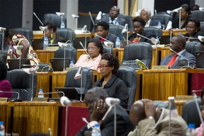 Lawmakers follow proceedings in Parliament during the debate (file photo).
