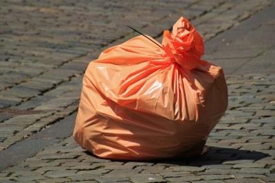 Plastic bag.