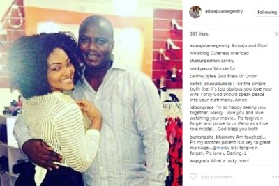 Mercy Aigbe and Lanre Gentry.