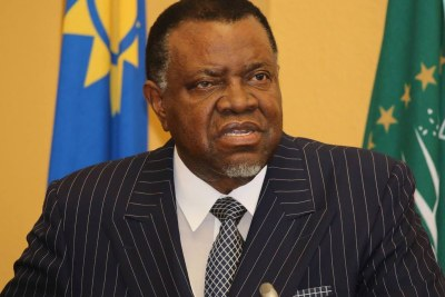 President Hage Geingob.(file photo).
