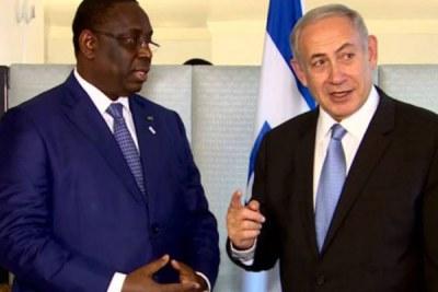 Président Macky Sall avec le Premier ministre israélien Benyamin Netanyahu