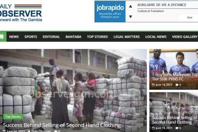 Capture du Journal Daily Observer