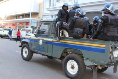 Zimbabwe Republic Police officers.