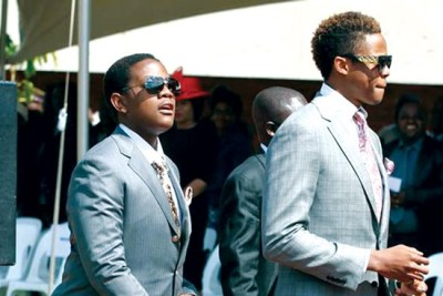 President Robert Mugabe's sons, Robert Junior and Chatunga Bellarmine (file photo).