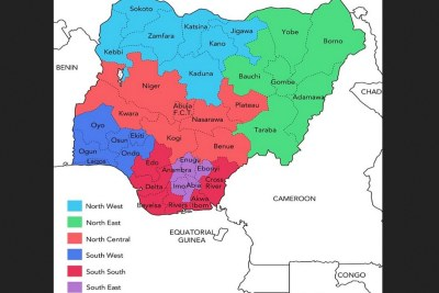 Geo political zones.