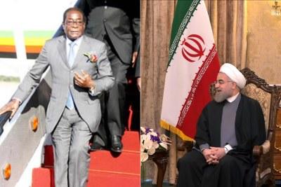 Zimbabwean President Robert Mugabe and Iran's newly-elected President Hassan Rouhani (file photo).
