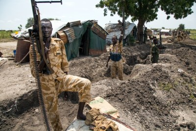 South Sudanese soldiers (file photo).