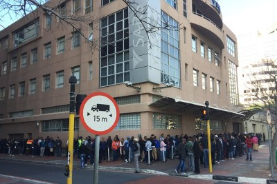 Outside the South African Revenue Service (SARS) office in Cape Town (file photo).