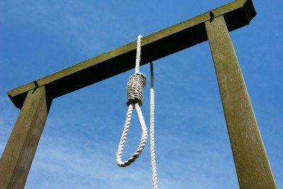Corde suspendue pour une pendaison.