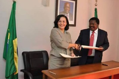Tanzania's Ambassador to Brazil Emmanuel Nchimbi and an official from the Brazilian National Treasury, Sonia Portella Nunes, signed the agreement on behalf of their respective governments.