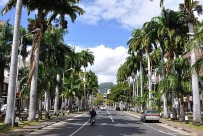 Une vue de Port-Louis, capitale de l'Ile Maurice.