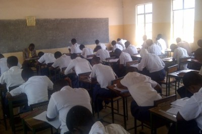 Children writing exams (file photo)
