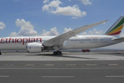 Ethiopian Airlines' Boeing 878-9 Dreamliner.