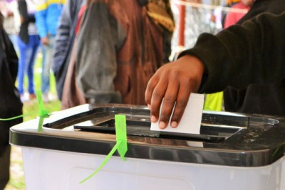 A Kenyan voter in the October 26 repeat presidential poll.