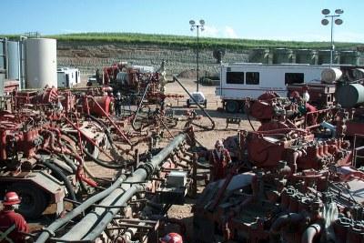 Fracking equipment (file photo).