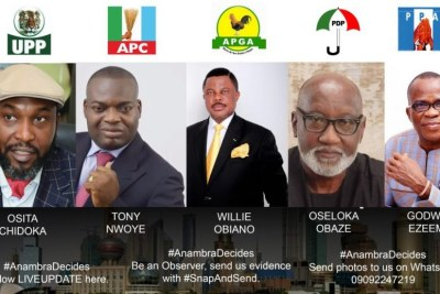 Anambra decides - governorship election poster