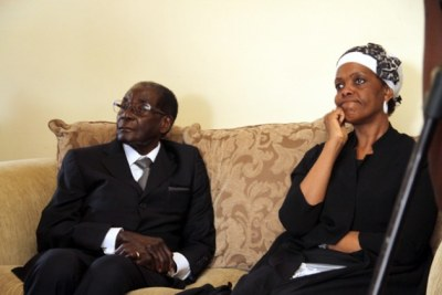 Former president Robert Mugabe and former First Lady Grace Mugabe (file photo).
