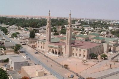 Vue de la ville de Nouakchott, capitale de la Mauritanie .