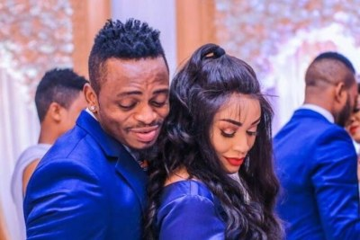 Diamond Platnumz and Zari during happier times.