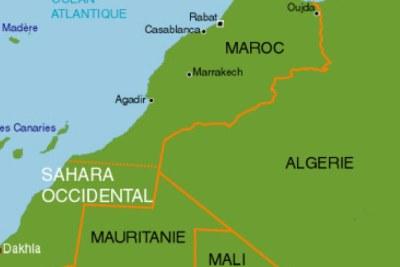 Carte Maroc et Sahara occidental