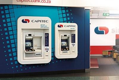 Capitec Bank ATMs (file photo).