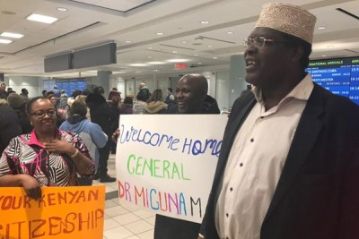 Miguna Miguna when he arrived in Toronto, Canada.