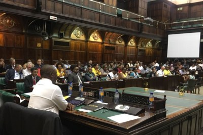The ANC Parliamentary Caucus in its first meeting of 2018.