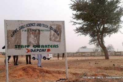 Signpost of Dapchi school.