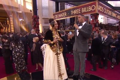 Screenshot of Tiffany Haddish's dress