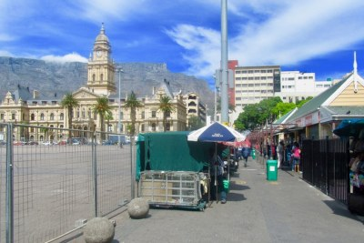 Traders on the Grand Parade in Cape Town (file photo).