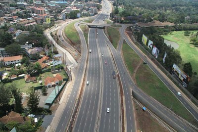 The multi-lane, modern Nairobi-Thika super highway.