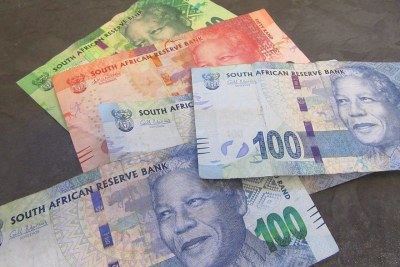 The South African rand.