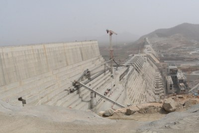 The Grand Ethiopian Renaissance Dam or GERD.